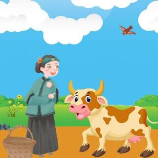 حكاية البقرة الصفراء والجدة الطيبة